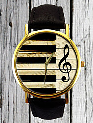 cheap -Piano Keys G Clef Watch Leather Watch Women's Strap Watch Men's Watch Gift for Her Gift Idea Custom Watch Musician Cool Watches Unique Watches