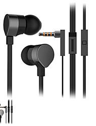 fone de ouvido estéreo de alta qualidade em fones de ouvido fone de ouvido ouvido de metal viva-voz com microfone 3.5mm para fones de