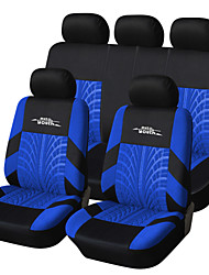 cheap -AUTOYOUTH Brand Embroidery Car Seat Cover Set Universal Fit Most Cars Covers with Tire Track Detail Styling Car Seat
