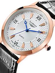 Men's Fashion Korean Style Genuine Leather Quartz Watches Wrist Watch Cool Watch Unique Watch
