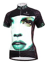 cheap -ILPALADINO Women's Short Sleeve Cycling Jersey - White / Black Bike Jersey, Quick Dry, Ultraviolet Resistant, Breathable Polyester