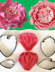 cheap -2016 New Arrivel Flower-Making Accessories Stainless Steel Gum Paste Peony Floral Petal Cutter Silicone Veiners Mold