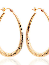 cheap -Women's Drop Earrings Hoop Earrings Silver Plated Gold Plated Circle Drop Jewelry Silver Golden Party Daily Casual Costume Jewelry