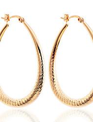 Žene Viseće naušnice Okrugle naušnice Glina Pozlaćeni Circle Shape Ispustiti Jewelry Party Dnevno Kauzalni Nakit odjeće