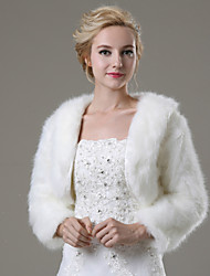 cheap -Faux Fur Wedding Party/Evening Casual Fur Coats Shrugs Elegant Style