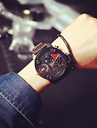 cheap -Men's Wrist watch Quartz Casual Watch Leather Band Charm Black