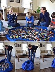 1pc sacos de armazenamento de brinquedo de grande porte vermelho / azul para o bloco de brinquedos lego