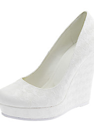 cheap -Women's Spring Summer Fall Winter Customized Materials Wedding Dress Wedge Heel  White