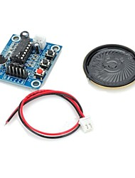 cheap -ISD1820 Audio Sound Recording Module w/ Microphone / Speaker - Deep Blue