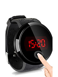 cheap -Men's Wrist Watch Digital Water Resistant / Water Proof Touch Screen Creative Silicone Band Digital Black - Black Black / White White / Silver Two Years Battery Life / LED / Panasonic CR2032