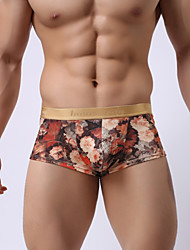 Men's boxer shorts The milk silk underwear smooth and comfortable Personality printing