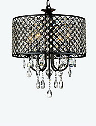 cheap -Max 60W Modern/Contemporary / Drum Crystal Chrome Chandeliers Living Room / Bedroom / Dining Room / Study Room/Office