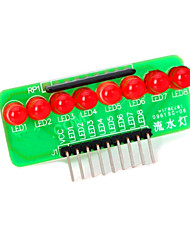 cheap -8-LED Red Light Strip Microcontroller Module - Green + Red