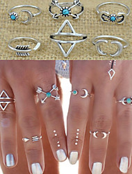 cheap -Women's Jewelry Set Knuckle Ring Personalized Vintage Love Statement Jewelry Fashion Punk Alloy Triangle Geometric Costume Jewelry