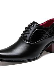 abordables -Hombre Zapatos Semicuero Invierno Primavera Verano Otoño Confort Zapatos formales Oxfords Con Cordón Para Casual Negro