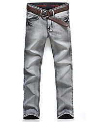 cheap -Men's Punk & Gothic Plus Size Slim Jeans Pants - Solid