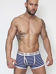cheap -Men's Ultra Sexy Panties Striped Mid Waist