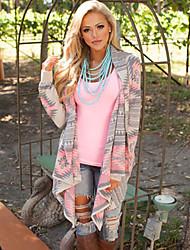 Women's Boho Solid Multi-color Wrap,Cowl Long Sleeve