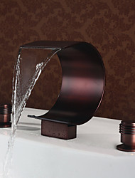 cheap -Mlfalls Brands Brass Finish Oil-Rubbed Bronze Large Waterfall Deck Mounted Bathroom Basin Faucets