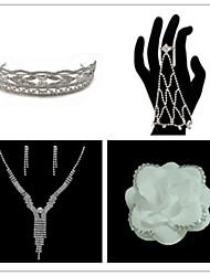 baratos -Mulheres Conjunto de jóias Brincos Colares Braceletes Tiaras - Regular Outros Para Casamento Festa Ocasião Especial Aniversário Noivado