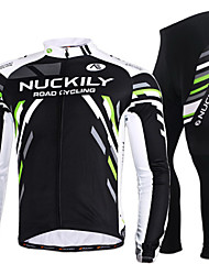 cheap -Nuckily Cycling Jersey with Tights Men's Women's Long Sleeves Bike Jersey Clothing Suits Quick Dry Windproof Anatomic Design Front Zipper