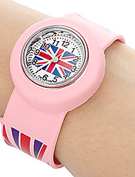 Kids UK Pattern Stretch Band Mini Quartz Watch Cool Watches Unique Watches Fashion Watch Strap Watch