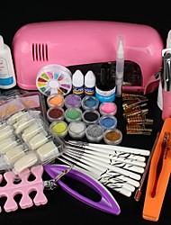 cheap -Pro Full White Cure Lamp Dryer & 12 Color UV Gel Nail Art Tools Sets Kits