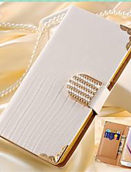رخيصةأون -SHI CHENG DA غطاء من أجل Samsung Galaxy حالة سامسونج غالاكسي محفظة / حامل البطاقات / حجر كريم غطاء كامل للجسم لون سادة جلد PU إلى S7 edge / S7 / S6 edge plus