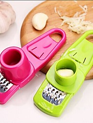 ZIQIAO Garlic Grater Slicer Shredder with Finger Protector(Random Color)