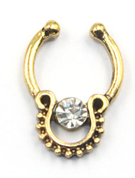 Da donna Gioielli per corpo Piercing naso Piercing al naso Acciaio inossidabile imitazione diamante Originale Di tendenza GioielliOro