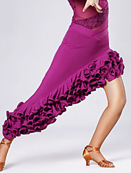 cheap -High-quality Viscose with Draped Latin Dance Skirts for Women's Performance (More Colors)