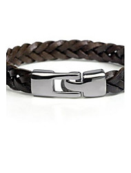 cheap -Men's Bracelet Leather Bracelet - Classic Party Work Jewelry Black Brown Bracelet For Gift Daily Casual