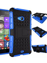 abordables -Para Funda Nokia Antigolpes / con Soporte Funda Cubierta Trasera Funda Armadura Dura Policarbonato NokiaNokia Lumia 950 / Nokia Lumia 830