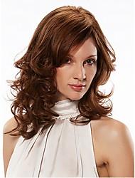 colore della miscela senza cappuccio lunghezza lunghi capelli ricci naturali parrucca sintetica di alta qualità