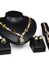 cheap -Jewelry Set - 18K Gold Plated Statement, Vintage, Party Include Gold For Party Special Occasion Anniversary