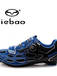 cheap -Tiebao Road Bike Shoes Cycling Shoes Men's Anti-Slip Breathable Mountain Bike Outdoor PVC Leather Breathable Mesh Latex PVC Cycling Hiking