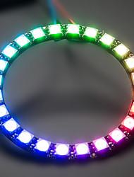 ws2812 24-5050 RGB LED kuljettaja Development Board - musta + valkoinen