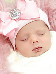 cheap -Newborn Soft Knitted Bow Knot Cotton Hat(0-3Month)