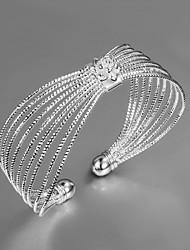 Dame Armbånd Unikt design Mode Sølv Smykker Guld Sølv Smykker For Bryllup Fest Daglig Afslappet 1 Stk.