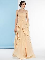 Linea-A Senza bretelline Lungo Chiffon Vestito da sposa con Incrociato di LAN TING BRIDE®