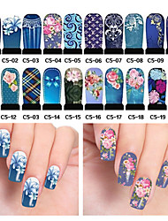 cheap -20pcs Nail Art Water Transfer Stickers Decals Full Cover DIY Nail Designs Manicure Tools (C5-001 to C5-020)