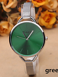 cheap -Fashion Silver Alloy Thin Belt Women's Watches Simple Quartz Watch With a Big Dial Cool Watches Unique Watches