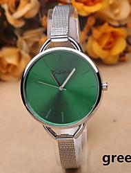 baratos -Mulheres Relógio de Pulso Quartzo Venda imperdível Lega Banda Analógico Amuleto Fashion Prata - Verde Azul Rosa claro