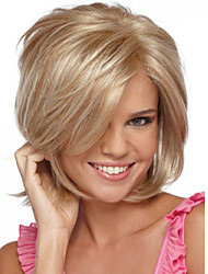 cheap -Synthetic Wig Straight Synthetic Hair Side Part Blonde Wig Women's Short Capless
