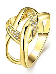 Žene Prsten Izjave Zircon Kubični Zirconia Pozlaćeni Pozlata od crvenog zlata Neregularan Nakit odjeće Vjenčanje Party Dnevno