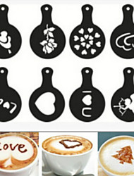Coffee Novelty  Fancy Coffee Garland Mold Printing mold 8PCS