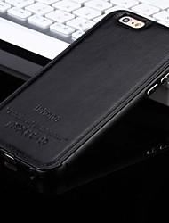 iphone 7 плюс новая роскошная кожа назад и металлический каркас телефон случае для iphone 5 / 5s