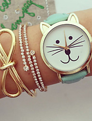 cheap -Women Watches Kitty Watch Cat Watch Vintage Leather Watch Jewelry Handmade Bracelet Wrist Watch Cool Watches Unique Watches Fashion Watch Strap Watch