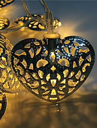 Hollow out 10 lamp, wrought iron love 2 battery box of lamp series