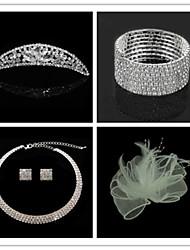 cheap -Wedding Suit(Headdress & Necklace & Earrings & Bracelet & Brooch)